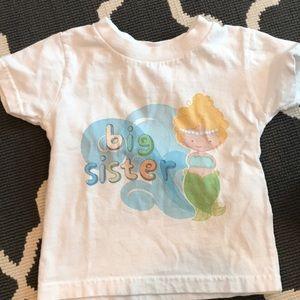 Other - Big sister mermaid tee